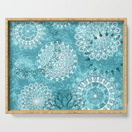 Mandala sky - Frost on your window Serving Tray
