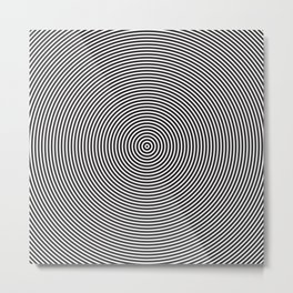 op art - circles Metal Print