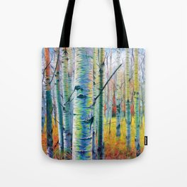 Aspen Trees in the Fall Tote Bag