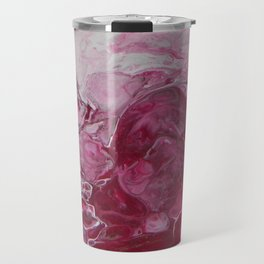 Magenta Love, abstract acrylic fluid painting Travel Mug