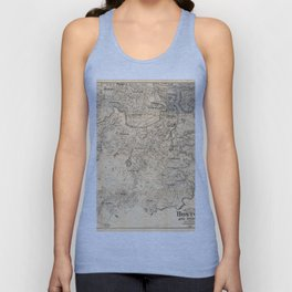 Map of the City of Boston and Vicinity (1907) Unisex Tank Top