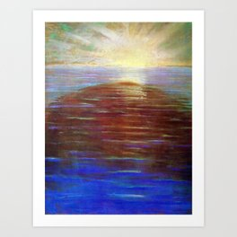 Sunrise over the Ocean Blue maritime - nautical landscape Mikalojus Konstantinas Ciurlionis Art Print