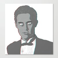 dale cooper Canvas Prints featuring Special Agent Dale Cooper by Aileen Swansen