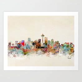 seattle washington Art Print