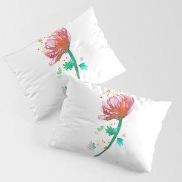 Warm Watercolour Fiordland Flower Pillow Sham