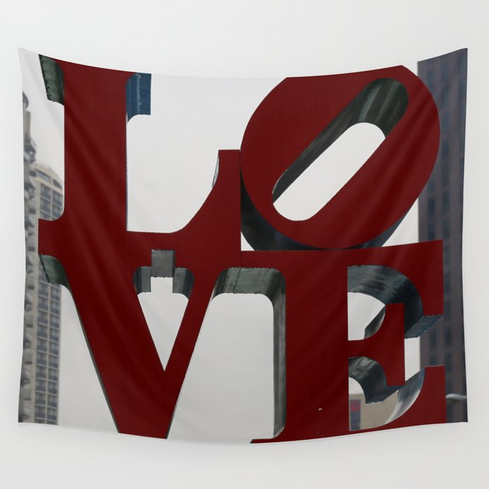 Love Philadelphia Sculpture Wall Tapestry