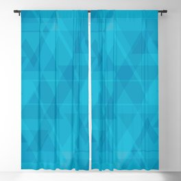 Gentle light blue triangles in the intersection and overlay. Blackout Curtain
