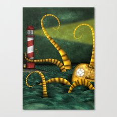 The Night of The Roboctobot Canvas Print