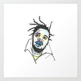 Rapper-a-day project | Day 5: Ol' Dirty Bastard Art Print