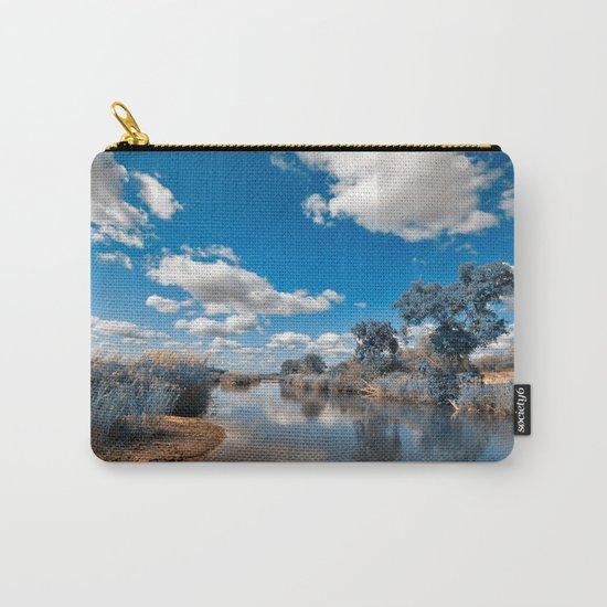 Kruger Park Landscape - Winter Blue Carry-All Pouch