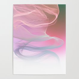 Flow Motion Vibes 1. Pink, Violet and Grey Poster