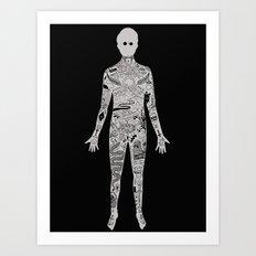 the illustrated man - bradbury Art Print