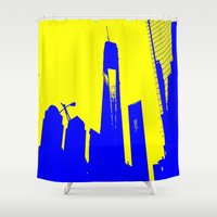 metropolis Shower Curtains featuring Metropolis by osile ignacio