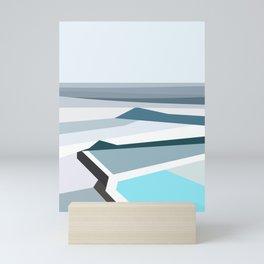 Geometric Bondi beach, Sydney Mini Art Print