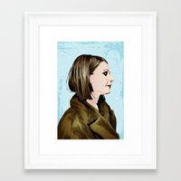 tenenbaum Framed Art Prints featuring Margot Tenenbaum by The Art Warriors