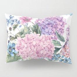 Summer Vintage Hydrangea Pillow Sham