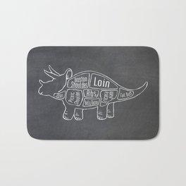 Triceratops Dinosaur (A.K.A Three Horn Face) Butcher Meat Diagram Bath Mat