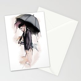 Rainy Watercolor Zayn Stationery Cards