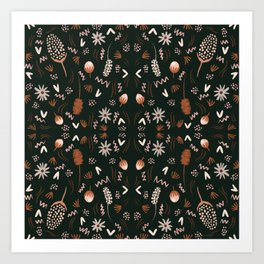 Autumn feeling pattern Art Print