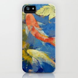 Autumn Koi Garden iPhone Case