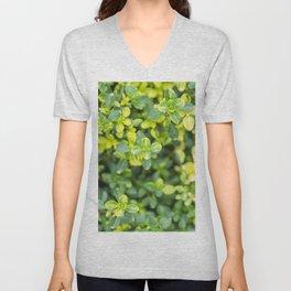 Nature floral herbal pattern Unisex V-Neck