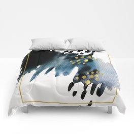 Dark Abstract Comforters