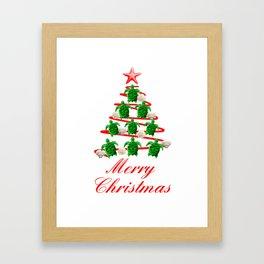 Coastal Merry Christmas Framed Art Print