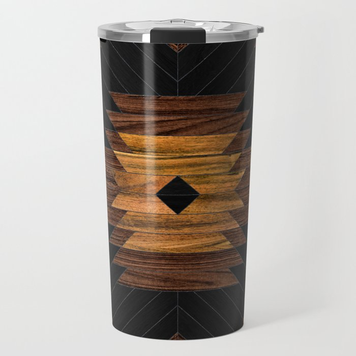 Urban Tribal Pattern No.7 - Aztec - Wood Travel Mug