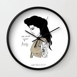 We miss you Amy Wall Clock