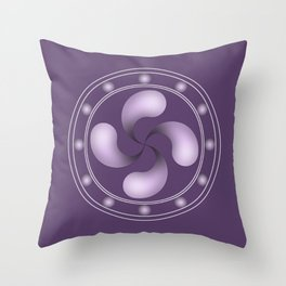 LAUBURU IN PURPLE (abstract geometric symbol) Throw Pillow