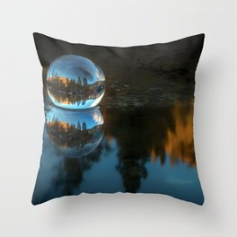 Refraction and Reflection Meet  Castle Lake reflections on the water Throw Pillow