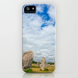 Carnac Stones iPhone Case