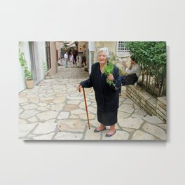 People of Corfu Metal Print