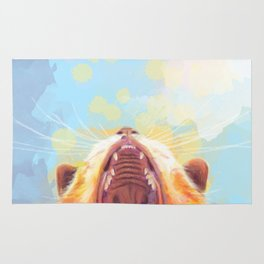 Rise and Shine, Kitty - colorful cat illustration Rug