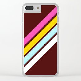 80's Style Retro Stripes Clear iPhone Case