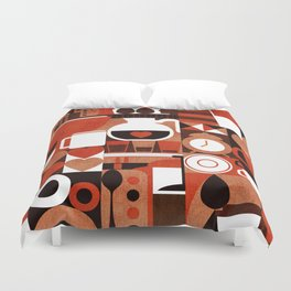 Coffee Story Duvet Cover
