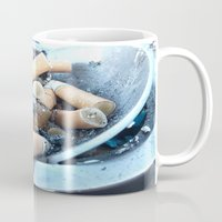 cigarettes Mugs featuring Cigarettes by Beatrice