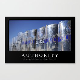Authority: Inspirational Quote and Motivational Poster Canvas Print