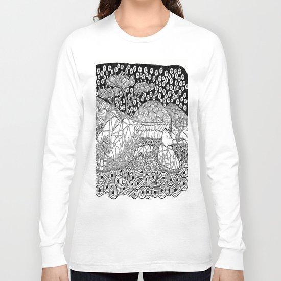 Zentangle Night Solitude Long Sleeve T-shirt