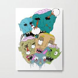 Monster Mash Metal Print
