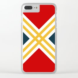 Nautical geometry 3 Clear iPhone Case