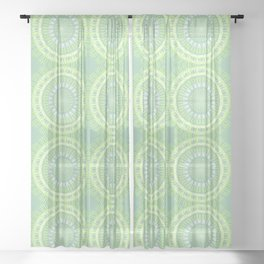 Lemon - Rays L of Alphabet collection Sheer Curtain
