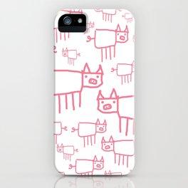 I Love Pigs iPhone Case
