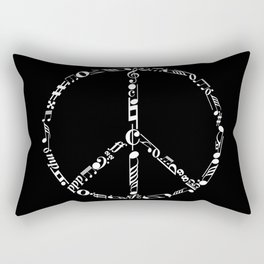 Music peace - inverted Rectangular Pillow