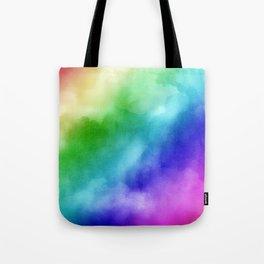Rainbow Watercolors Tote Bag