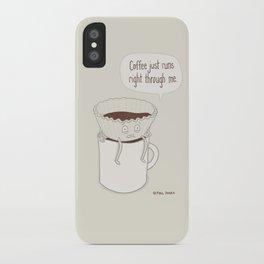 Coffee Runs iPhone Case