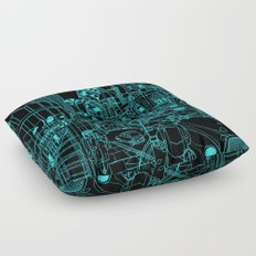 London! Night Floor Pillow