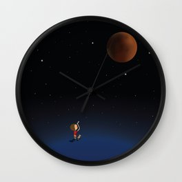 The Red Moon Wall Clock