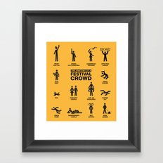 The Anatomy of a Festival Crowd Framed Art Print
