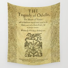 Shakespeare. Othello, 1622. Wall Tapestry
